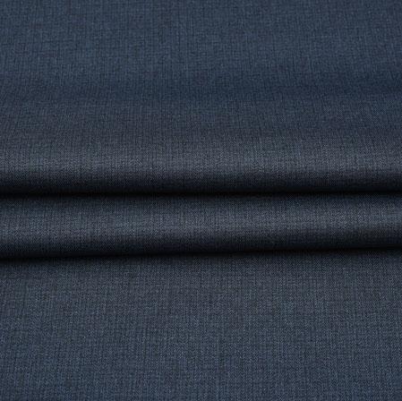 Men Unstitched Trouser (1.2 MTR)-Blue Plain Cotton Wool Fabric-42196