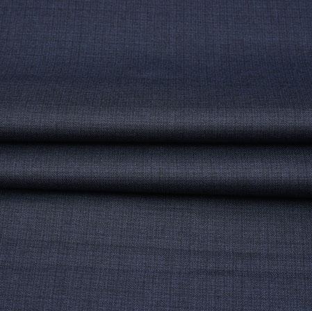 Men Unstitched Trouser (1.2 MTR)-Blue Plain Cotton Wool Fabric-42200