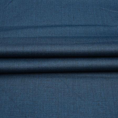Men Unstitched Trouser (1.2 MTR)-Blue Plain Cotton Wool Fabric-42202