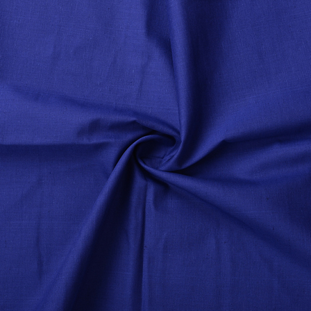Blue Plain cotton Slub Handloom Fabric-40209