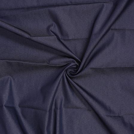Blue Poly Denim Handloom Cotton  Khadi  Fabric-40106