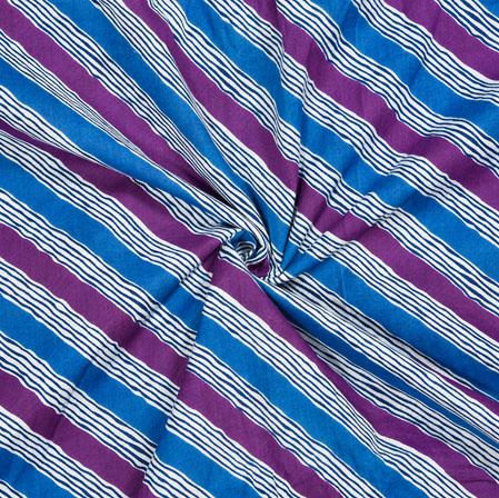 Blue Purple Leheriya Cotton Fabric-28121