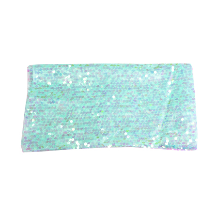 Blue  Shiny Sequin Fabric-60635