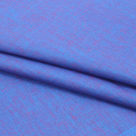 Blue Two tone Linen Cotton Fabric-40645