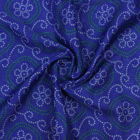 Blue White Leheriya Kota Doria Fabric-25139