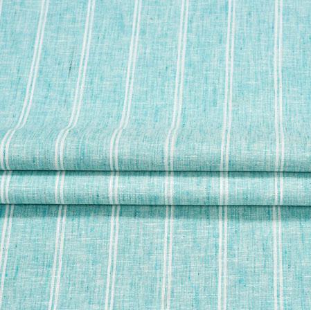 Blue White Stripe Handloom Cotton Fabric-41038