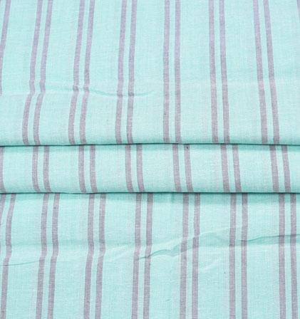 Blue White Stripe Handloom Fabric-42046