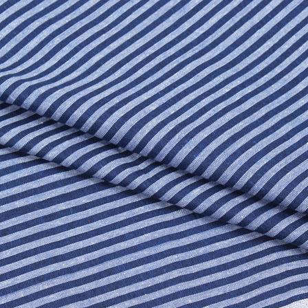 Cotton Shirt (2.25 Meter)-Blue White Striped Handloom-140708