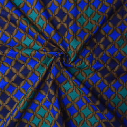 Blue and Green Floral Design Kalamkari Manipuri Silk-16108