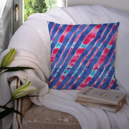Blue and Pink Cotton Cushion Cover-35025