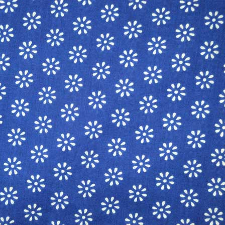 Blue and White Beautiful Screen Print Indian Soft Cotton Fabric