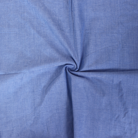 Blue and White Plain Cotton Samray Handloom Khadi Fabric-40085