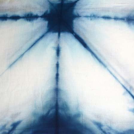 Blue and White Tie Dye Pure Cotton Fabric by the Yard