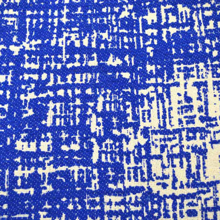 Blue and White Unique Pattern Cotton Jacquard Fabric-31009