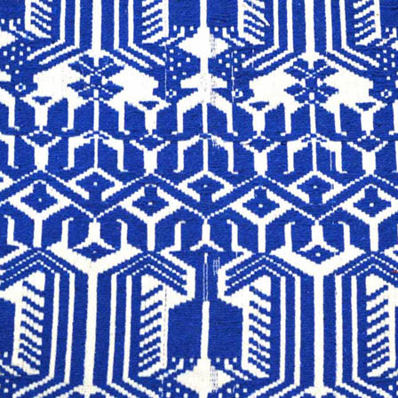 Blue and White Unique Shape Cotton Jacquard Fabric-31043