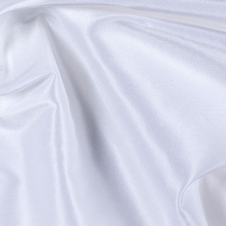 Bright White Silk Taffeta Fabric-6556