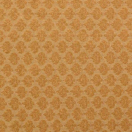 Bronze and Golden Leaves Pattern Brocade Silk Fabric by the Yard