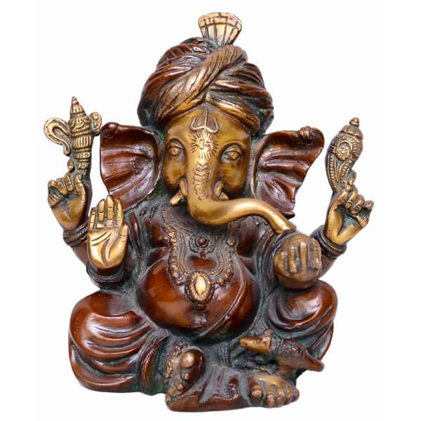Bronze sitting Ganpati