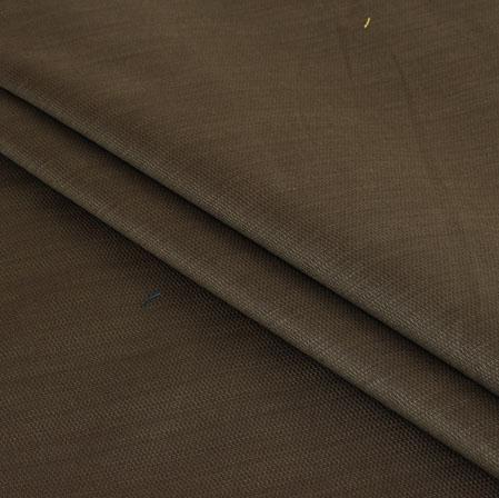 Men Unstitched Trouser (1.3 MTR)-Brown Cotton Fabric-42064
