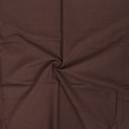 Brown Cotton Slub Dyed Handloom Khadi Fabric-40076