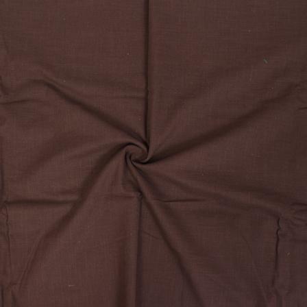 Brown Cotton Slub Dyed Handloom Fabric-40076