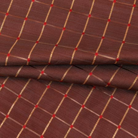 /home/customer/www/fabartcraft.com/public_html/uploadshttps://www.shopolics.com/uploads/images/medium/Brown-Golden-Checks-Zari-Brocade-Silk-Fabric-9296.jpg