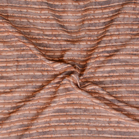 Brown Gray ikat two tone Rayon Fabric-15181