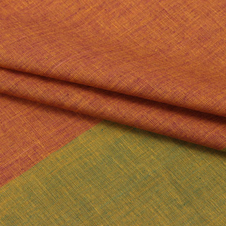 Cotton Shirt (2.25 Meter)-Brown Green Striped Handloom-140721