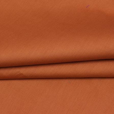 Brown Plain Cotton Silk Fabric-16461