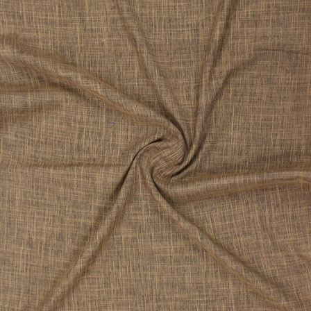 Brown Plain Handloom Cotton Fabric-40652