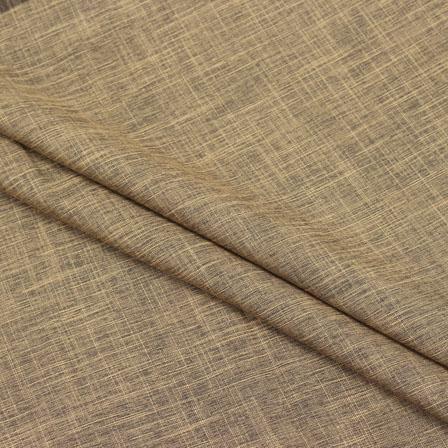 Cotton Shirt (2.25 Meter)-Brown Plain Handloom-140652