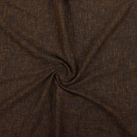 Brown Plain Handloom Khadi Cotton Fabric-40657