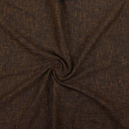 Brown Plain Handloom Cotton Fabric-40657