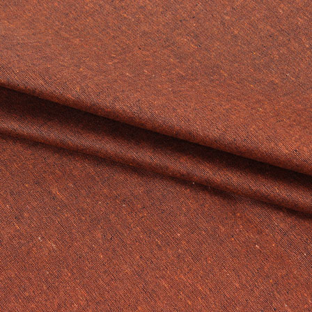 Cotton Shirt (2.25 Meter)-Brown Plain Handloom Khadi-140666
