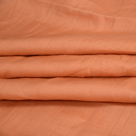 Linen Shirt (1.6 Meter) Fabric- Brown Plain-90011