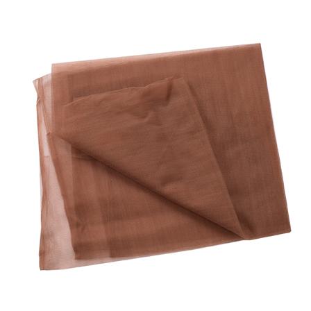 Brown Plain Net Fabric-60187