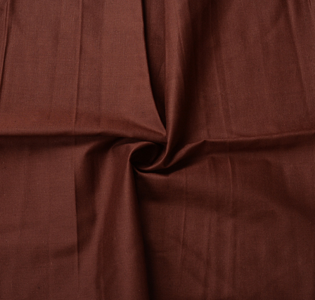 Brown Plain Slub Cotton Handloom Fabric-40216
