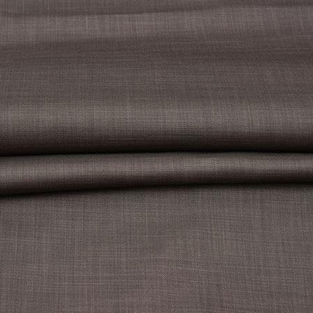 Men Unstitched Trouser (1.2 MTR)-Brown Plain Cotton Wool Fabric-42174
