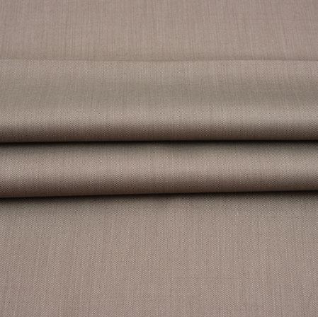 Men Unstitched Trouser (1.2 MTR)-Brown Plain Cotton Wool Fabric-42175