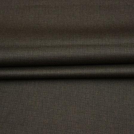 Men Unstitched Trouser (1.2 MTR)-Brown Plain Cotton Wool Fabric-42188
