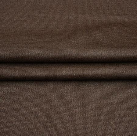 Men Unstitched Trouser (1.2 MTR)-Brown Plain Cotton Wool Fabric-42206