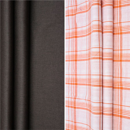 Combo Set Shirt and Trouser-Brown White and Orange-42122
