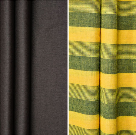 Combo Set Shirt and Trouser-Brown Yellow and Green-42247