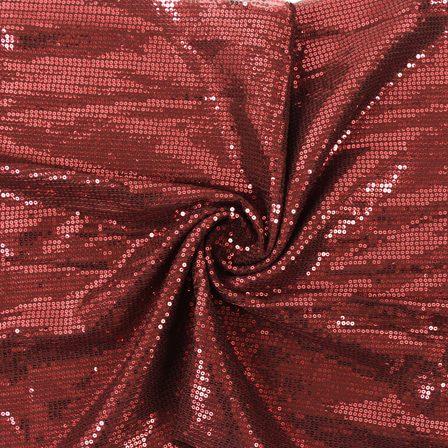 Brown and Red Shiny Sequin Fabric-60815