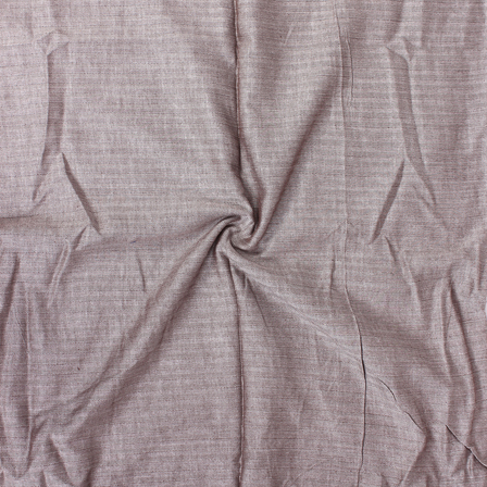 Brown and White herring bone Handloom Khadi Fabric-40113