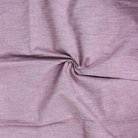 Burgundy Plain Handloom Cotton Samray Khadi Fabric-40098