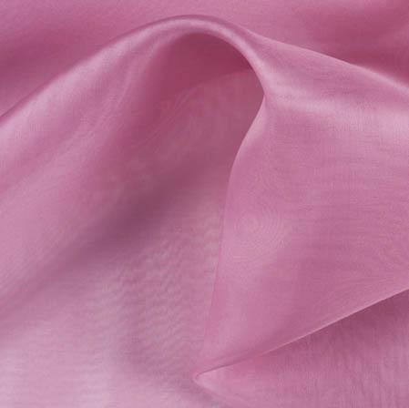 Candy Pink Plain Organza Silk Fabric-51799