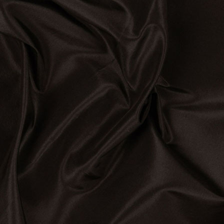 Chocolate Solid Silk Taffeta Fabric-6557