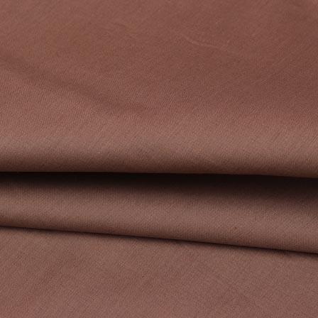 Coffee Plain Cotton Silk Fabric-16454