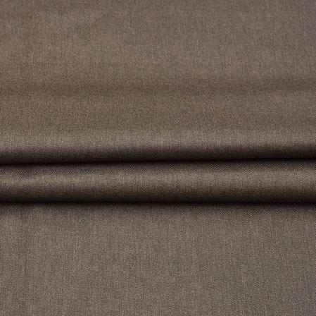 Men Unstitched Trouser (1.3 MTR)-Coffee Plain Cotton Fabric-42051